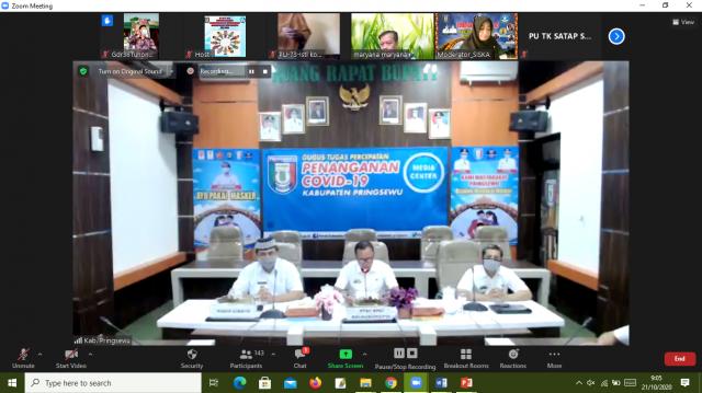 Dinas Pendidikan dan Kebudayaan Kabupaten Pringsewu adakan Bimtek PAUD Holistik Integratif secara Virtual Zoom